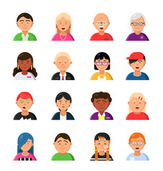 funny characters male and female web avatars vector image