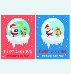 merry christmas innovations vector image vector image