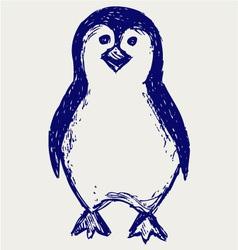 Penguin sketch vector image vector image