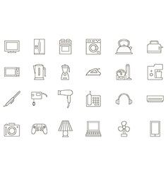 Appliances black icons set vector image vector image
