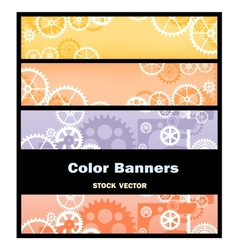 Banners gear vector image vector image