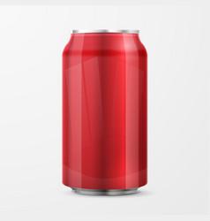 red aluminium can vector image