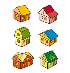 simple stylized houses vector image