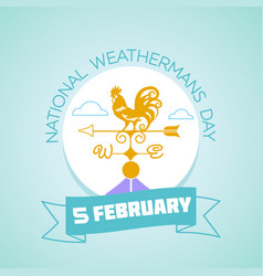 5 february national weathermans day vector