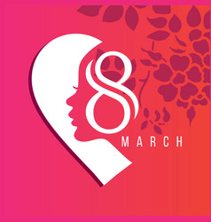8 march logo design with international womens day vector image