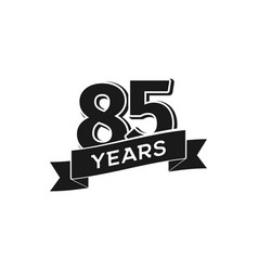 85 years anniversary logotype isolated vector