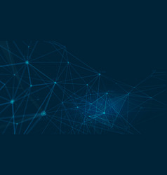 Abstract polygonal background with connected vector