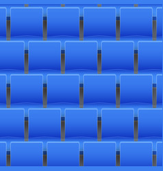 background of plastic stadium seats vector image