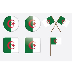 badges with flag of Algeria vector image