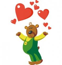 bear valentines vector image