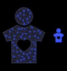 Boyfriend - bright web mesh with light spots vector