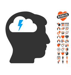 brainstorming icon with dating bonus vector image vector image