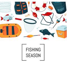 Cartoon fishing equipment vector