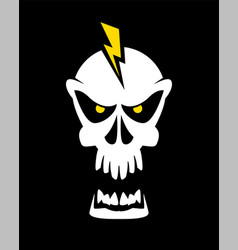 caution high voltage skull sign vector image