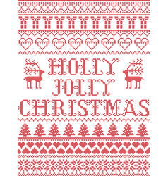 Christmas pattern holly jolly christmas carol vect vector