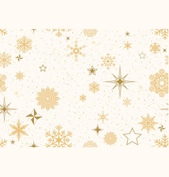 christmas pattern with golden decoration vector image