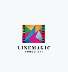 cinema magic abstract sign emblem or logo vector image