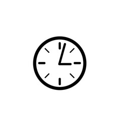 clock icon in flat style for apps ui websites vector image