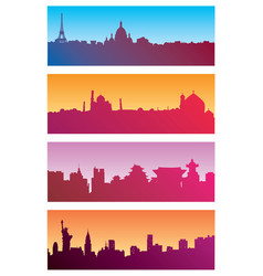 color urban landscapes vector image