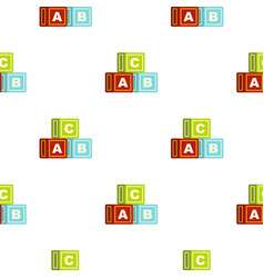 Colorful alphabet cubes pattern seamless vector