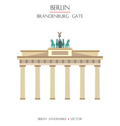 colorful brandenburg gate vector image