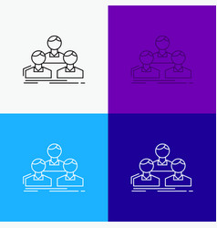 company employee group people team icon over vector image