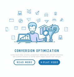 conversion optimization concept vector image