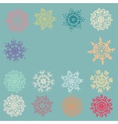 cute retro snowflakes vector image