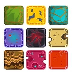 Different Materials and Textures for the Game vector image