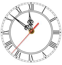 elegant clock face with roman numerals figured vector image