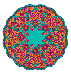 ethnic seamless mandala round border frame floral vector image