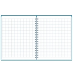 Exercise book Open notebook Plaid notebook vector image