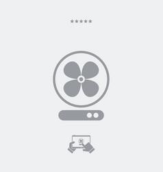 fan symbol - web icon vector image