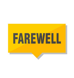 Farewell price tag vector