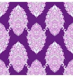Floral leaf violet lotus Indian paisley ornament vector image