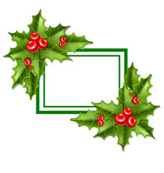 frame christmas mistletoe 10eps vector image