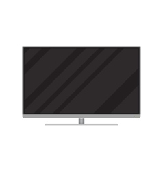 Frontal view of modern widescreen led or lcd tv vector