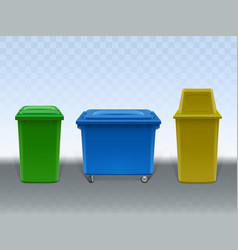 garbage containers street and in-house litter bin vector image