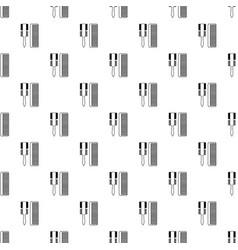 hair comb pattern seamless vector image