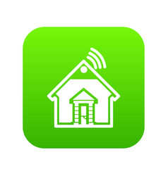 home icon green vector image