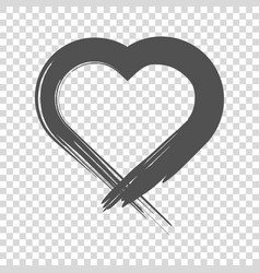 image of the heart inflicted with a brush vector image