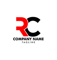 Initial letter rc logo template design vector