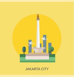 Jakarta city of indonesia conceptual design vector