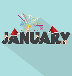 January Typography Design vector image