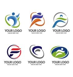Letter f logo sport vector