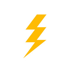 Lightning bolt icon thunder flash power electric vector