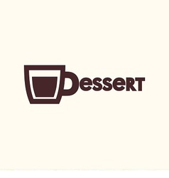 Logo cup with chocolate vector