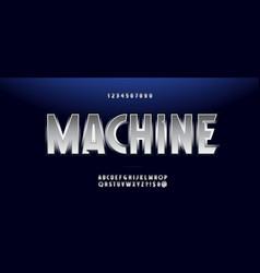 machine font modern typography vector image