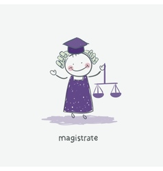 Magistrate vector image