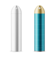 metallic sprayer can template vector image